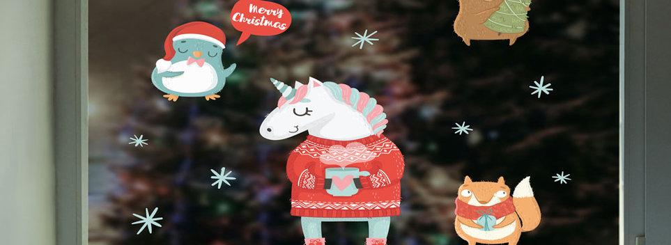 Kerst-stickers