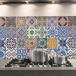 Azulejos Keukenwand Sticker (diverse kleuren)