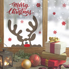 Muur--Raamsticker-Merry-Christmas-Rendier