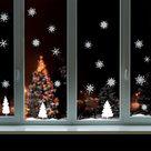Muur--Raamsticker-Kerst-Sneeuwlandschap