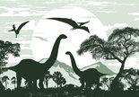 Dinosaurus-Brontosaurus-behang-XXXL