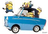 Muursticker-Minions-Auto