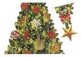 Muur- / Raamsticker Kerstboom - 110 cm hoog_