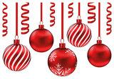 Muur- / Raamsticker Kerstballen - 10 stuks_