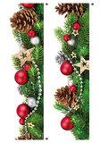 Muur- / Raamsticker Kerstborder - 2.40 m lang_