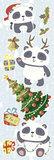 Muur- / Raamsticker Kerst Panda_