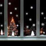 Muur- / Raamsticker Kerst Sneeuwlandschap_