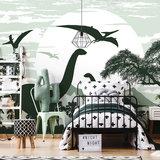 Dinosaurus Brontosaurus behang XXXL (368 x 254 cm) - PAPIER _