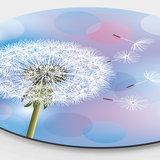 Wandcirkel Paardenbloem Blauw – Ø 40 - 60 - 90 - 110 cm_