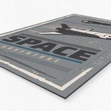 Wanddecoratie Ruimte – 40x60 - 60x90 - 80x120 cm_