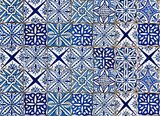 Azulejos Keukenwand Sticker (blauw)