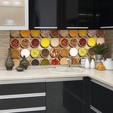 Kruiden (schaaltjes) Keukenwand Sticker