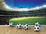 Voetbal Stadion Rond behang XXXL_