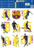 FC Barcelona Muursticker 16 Spelers_