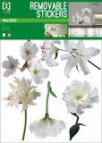 Muursticker Boeket Witte Bloemen_