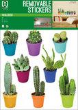 Muursticker Cactus (set van 8)_