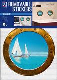 Muursticker Bootraam Zeilboot (set van 2)_