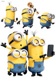 Muursticker Minions Selfie & Run_