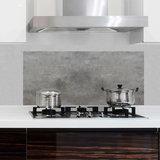 Keuken Achterwand Sticker Grijs Betonlook XL - 1 meter breed_