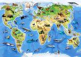 Wereldkaart Dieren behang XXXL_