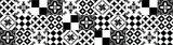 Keuken Achterwand Sticker Portugese Tegels XXL (zwart) - 180 x 45 cm_