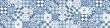 Keuken Achterwand Sticker Portugese Tegels XXL (blauw) - 180 x 45 cm_