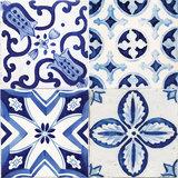 Tegel Wandsticker Delfts Blauw - 20 x 20 cm - 3 stuks_