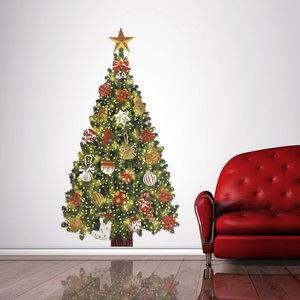Muur- / Raamsticker Kerstboom - 110 cm hoog