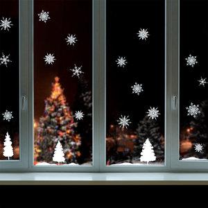 Muur- / Raamsticker Kerst Sneeuwlandschap