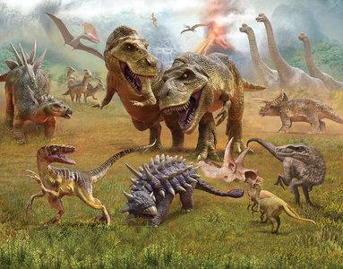Dinosaurussen XXL behang