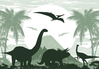 Dinosaurus Triceratops behang XXXL (368 x 254 cm) - PAPIER