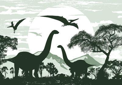 Dinosaurus Brontosaurus behang XXXL (368 x 254 cm) - PAPIER