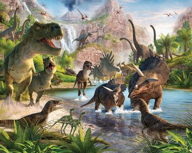 Dinosaurus behang XXL (305 x 244 cm)