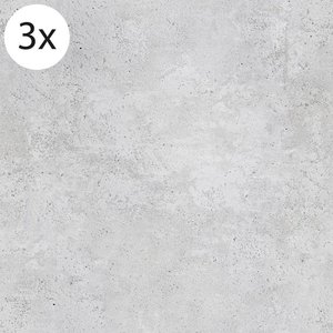 Vloertegel (stickers) - Beton grijs - 40 x 40 cm (3x)