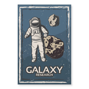 Tizato Wanddecoratie Astronaut