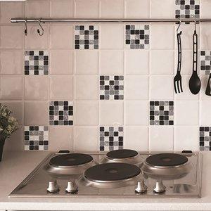 Zwart Wit Tegels.Tegel Wandsticker Zwart Wit 30 X 30 Cm 2 Stuks