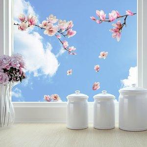 Raamsticker Magnolia