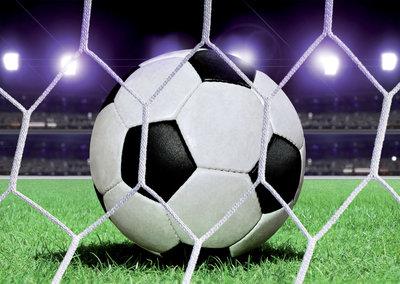 Voetbal Bal behang XXXL