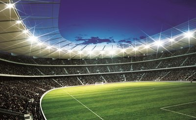 Voetbal Stadion Rond behang XXXL