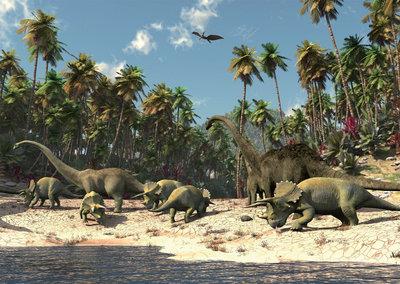 Dinosaurus behang L