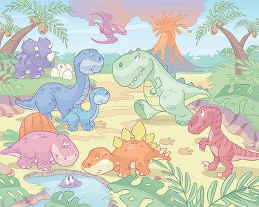 Baby Dino XXL Behang