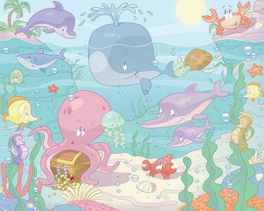 Baby Onderwater XXL Behang