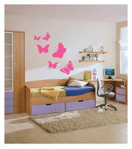 Vlinders (roze, set van 6)