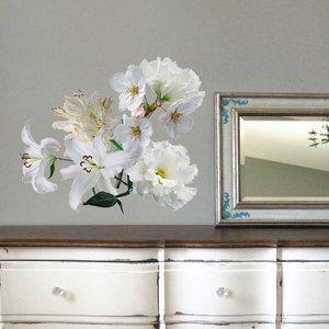 Muursticker Boeket Witte Bloemen
