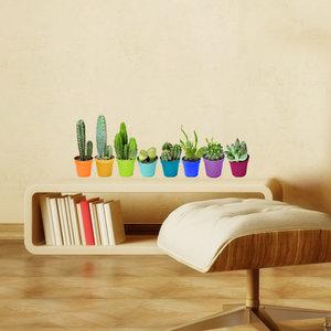 Muursticker Cactus (set van 8)