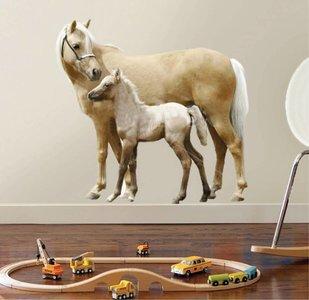 Muursticker Paard met Veulen