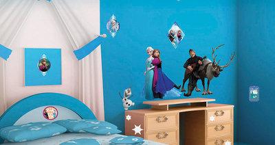 Muursticker Disney Frozen Anna & Elsa (klein)