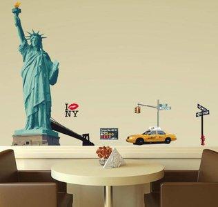 Muursticker New York - Vrijheidsbeeld