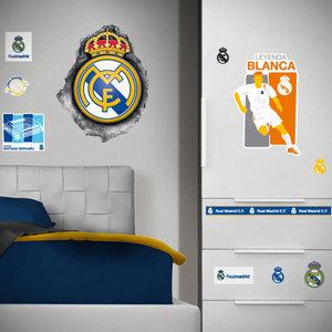 Muursticker Real Madrid Logo Hole (klein)