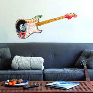 Muursticker Electrische Gitaar - Jimi Hendrix